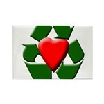 Recycle Heart Rectangle Magnet (100 pack)