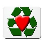 Recycle Heart Mousepad