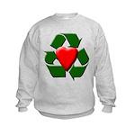 Recycle Heart Kids Sweatshirt