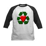 Recycle Heart Kids Baseball Jersey