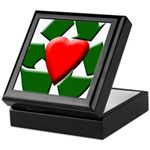 Recycle Heart Keepsake Box