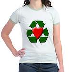 Recycle Heart Jr. Ringer T-Shirt
