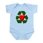 Recycle Heart Infant Bodysuit