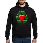 Recycle Heart Hoodie (dark)
