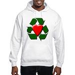 Recycle Heart Hooded Sweatshirt