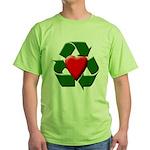 Recycle Heart Green T-Shirt