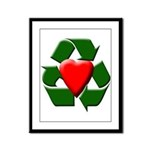 Recycle Heart Framed Panel Print