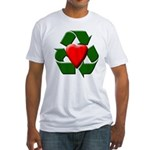 Recycle Heart Fitted T-Shirt