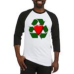 Recycle Heart Baseball Jersey