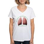 Lung Transplant Women's V-Neck T-Shirt