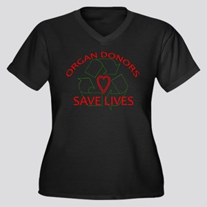 Organ Donors Save Lives Women's Plus Size V-Neck D