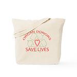 Organ Donors Save Lives Tote Bag