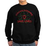 Organ Donors Save Lives Sweatshirt (dark)