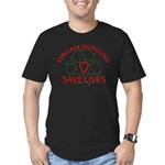 Organ Donors Save Lives Men's Fitted T-Shirt (dark