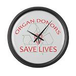 Organ Donors Save Lives Large Wall Clock