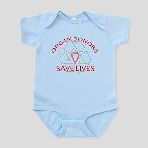 Organ Donors Save Lives Infant Bodysuit