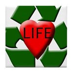 Recycle Life Tile Coaster