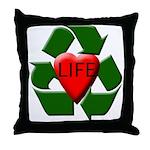 Recycle Life Throw Pillow