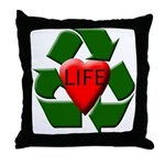 Recycle Life Throw Pillow