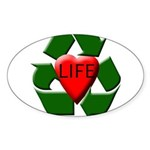 Recycle Life Oval Sticker