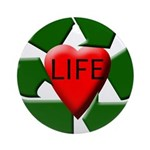Recycle Life Ornament (Round)