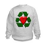 Recycle Life Kids Sweatshirt