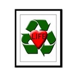 Recycle Life Framed Panel Print