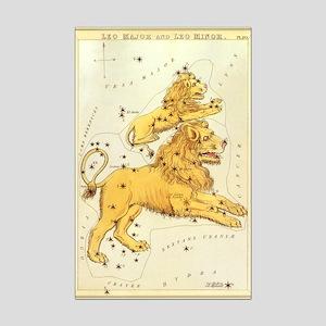 Vintage Celestial Zodiac, Leo Mini Poster Print