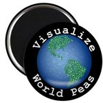 "Visualize World Peas 2.25"" Magnet (10 pack)"