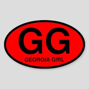 Georgia Girl II Oval Sticker