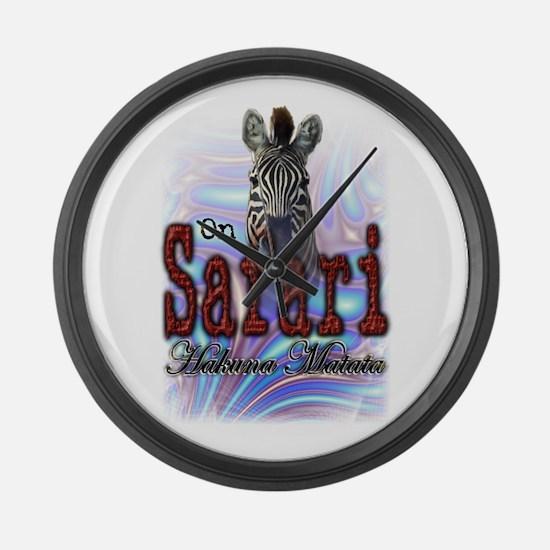 On Safari - Large Wall Clock