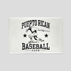 Puerto Rican Baseball Rectangle Magnet