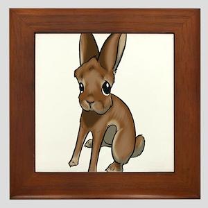 Red Belgian Hare Framed Tile