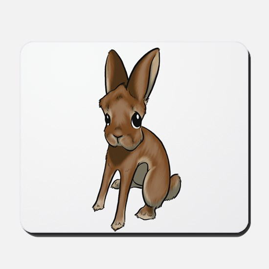 Red Belgian Hare Mousepad