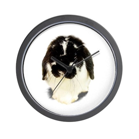 Broken Black Holland Lop Wall Clock
