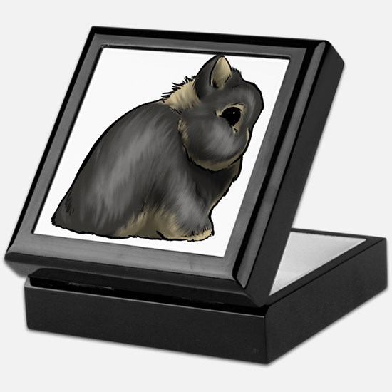 Black Otter Netherland Dwarf Keepsake Box