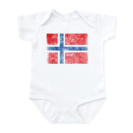 Vintage Norway Flag Infant Bodysuit