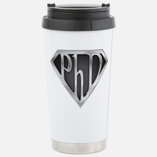 Super PhD - metal Stainless Steel Travel Mug