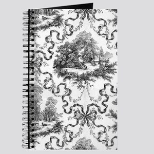 Black and White Toile Journal
