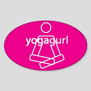 Yogagurl Graphic Sticker