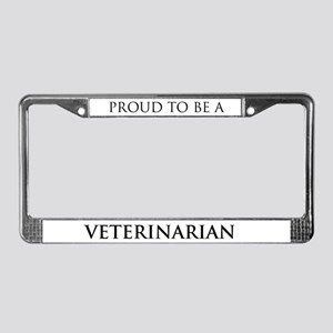 Proud Veterinarian License Plate Frame