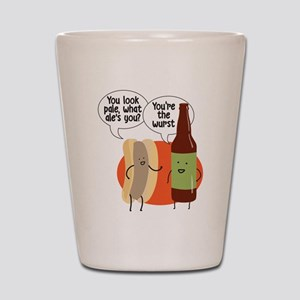 Ale Bratwurst Shot Glass