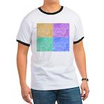 Colorful Fingerprint Ringer T-shirt