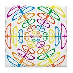 Peace Symbols Tile Coaster