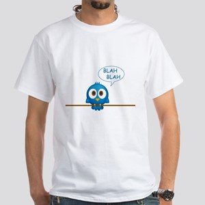 Blue twitter bird talking T-Shirt