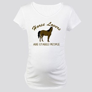 Horse Lovers... Maternity T-Shirt