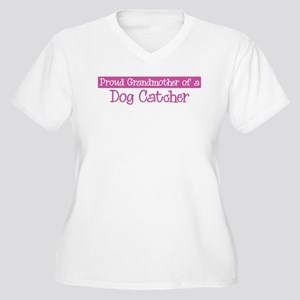 Grandmother of a Dog Catcher Women's Plus Size V-N
