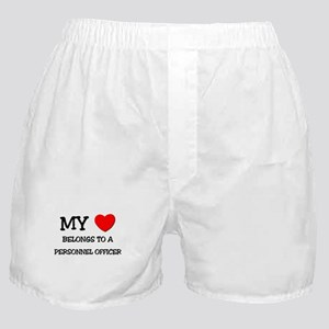 My Heart Belongs To A PERSONNEL OFFICER Boxer Shor
