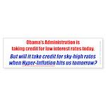 High Interest Rates (Bumper Sticker 50 pk)