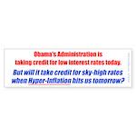 High Interest Rates Bumper Sticker (10 pk)
